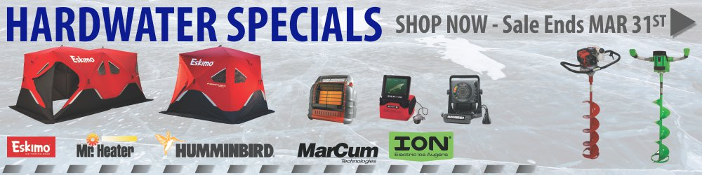 Hardwater Specials Sale Ends March 31st 2019