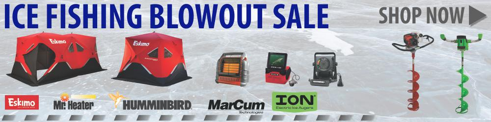 Ice Fishing Blowout Sale Ends March 31st 2019