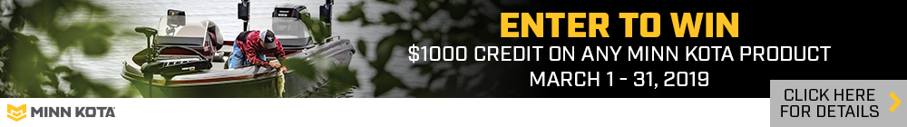 Minn Kota $1000 Credit off any new Minn Kota Gear Purchase