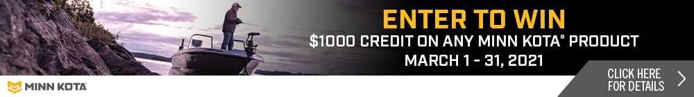 Minn Kota $1000 Credit off any new Minn Kota Gear purchase - March 2021