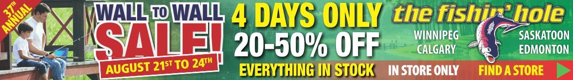 Shop 20-50% off everything IN STORE ONLY! Aug 21-24th Wall to Wall Sale